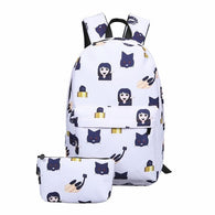 Emoji Print Backpack Set