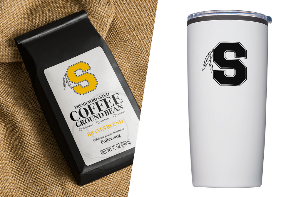 Pack 3: 1 Braves Blend Coffee, 1 Shawnee Tumbler