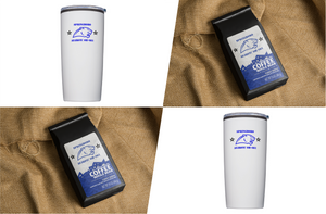 Pack 5: 2 bags Cadet Brew coffee, 2 tumblers