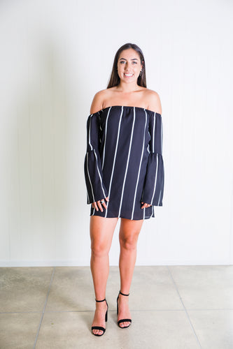 Stripe Up Dress