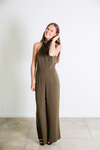 Shona Joy Funnel Neck Jumpsuit - Khaki