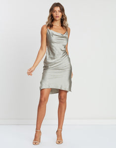 Cowl Neck Slip Mini Dress