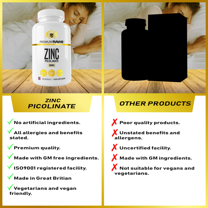 Zinc Picolinate Capsules | Immune Support, Hair and Skin & Reproductive Health.