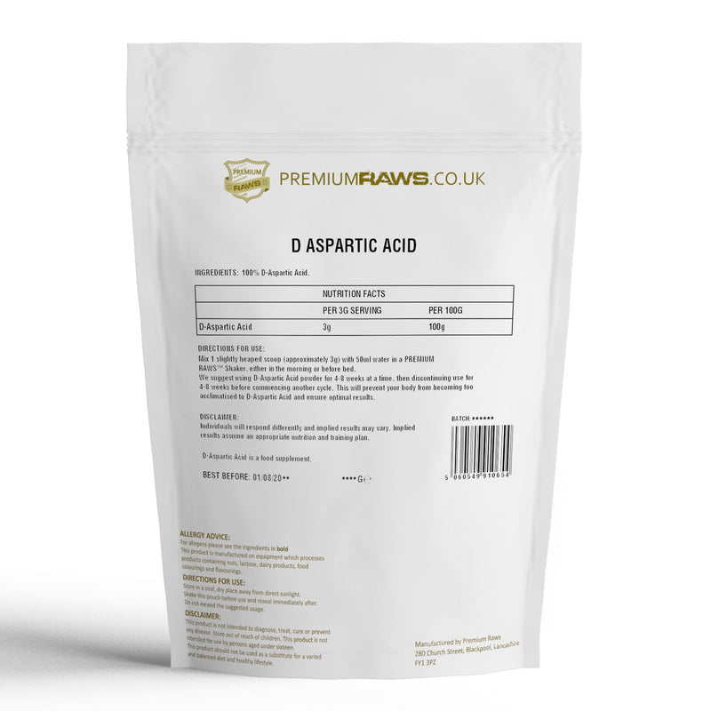D Aspartic Acid Powder | D-AA | Amino Acid | 100%