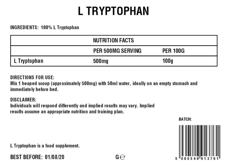 L-Tryptophan Powder | Essential Amino Acid | 100%