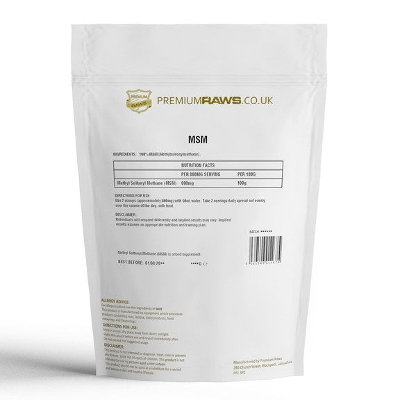 MSM Powder | Methyl-Sulfonyl Methane | 100%