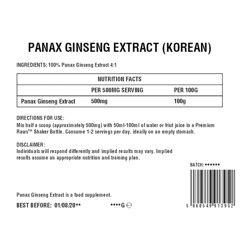 Panax Ginseng Powder | 4:1 Extract