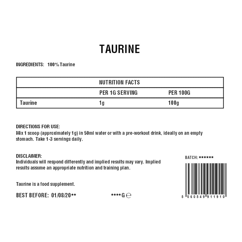 Taurine Powder | Amino Acid | 100%