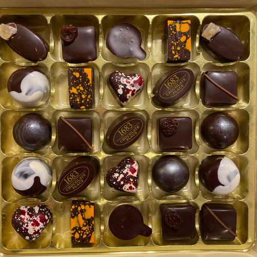 All Dark Selection Box of 25 Chocolates