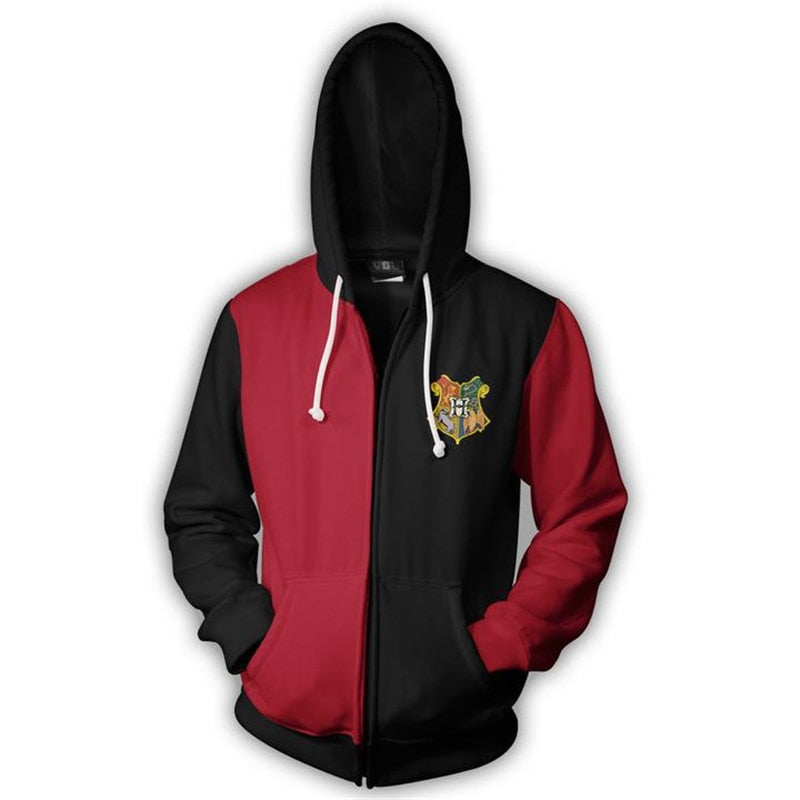 Harry Potter Zipper Sweatshirts ( Unisex )