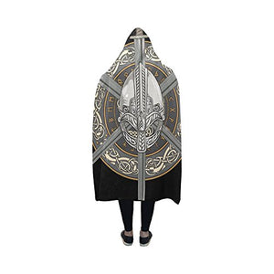 Hooded Blanket Viking Helmet & swords - Heathen Roots
