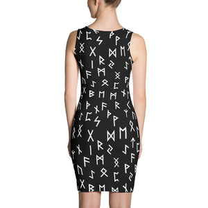 Elder Futhark Rune Sublimation Cut & Sew Dress - Heathen Roots