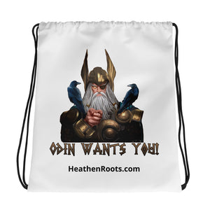 Odin Wants You Drawstring bag - Heathen Roots