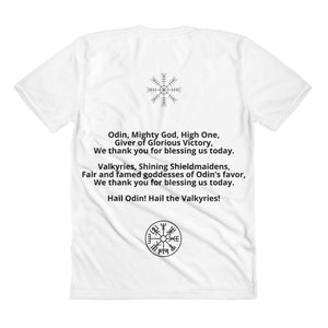 Viking Prayer Women's sublimation t-shirt - Heathen Roots