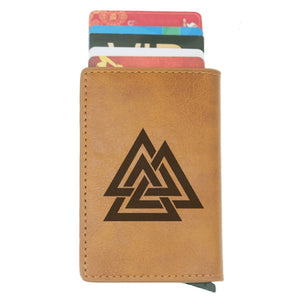 Valknut Norse Rfid Card Holder Wallet - Heathen Roots