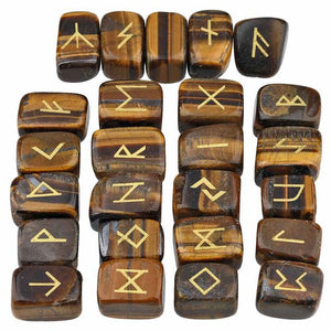 25Pc/Set Rune Stones Elder Futhark - Heathen Roots