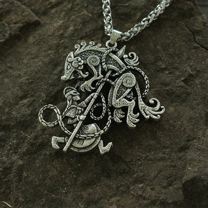 Odin Warrior wolf Pendant - Heathen Roots
