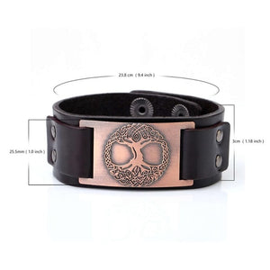 Yggdrasil Leather Bracelet - Heathen Roots