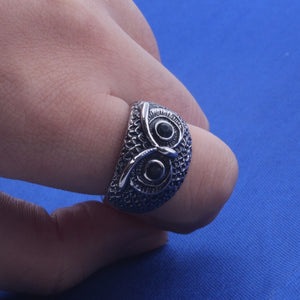 Crystals Eyes Owl Ring - Heathen Roots