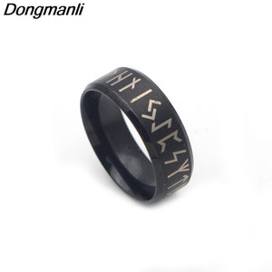 Black Rune Ring - Heathen Roots