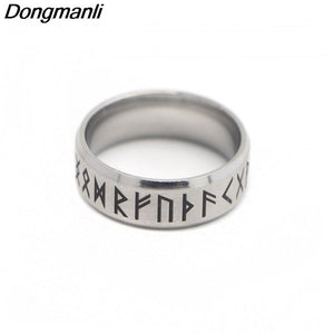Stainless Steel Norse Rune Ring - Heathen Roots