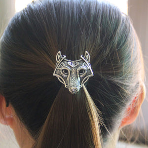 Wolf head elastic hair band - Heathen Roots