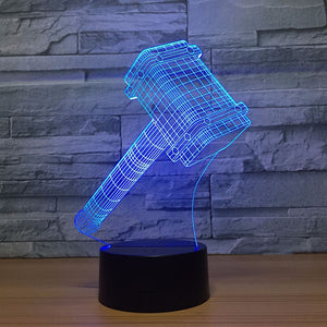 Thor's  Hammer 3D LED Illusion Lamp - Heathen Roots
