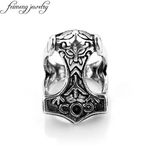 Mjolnir Thor face Ring - Heathen Roots