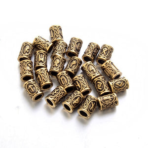 24pcs/Set Futhark Rune Beads 316L Stainless - Heathen Roots