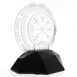 Vegvisir style Norse Compass 3D Optical Illusion Lamp - Heathen Roots