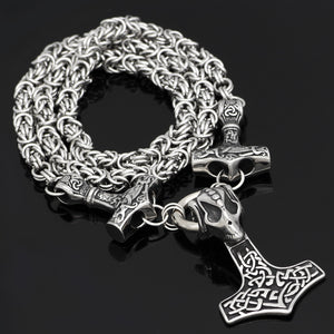 Thor Mjolnir Triple Hammer Kings chain - Heathen Roots