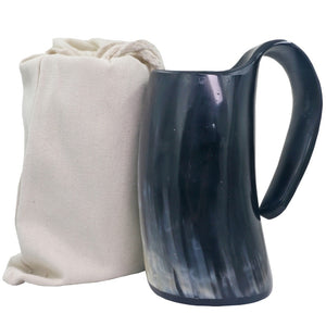 OX HORN DRINKING MUG Black Coloration - Heathen Roots