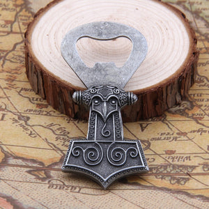 Stainless steel Mjolnir bottle Opener - Heathen Roots