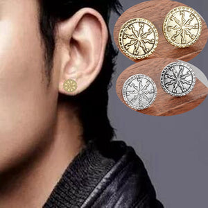 Vegvisir Stud Earring - Heathen Roots