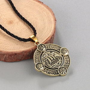 Sleipnir Pendant Elder Futhark Runes Necklace - Heathen Roots