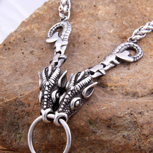 viking dragon necklace mjolnir pendant - Heathen Roots