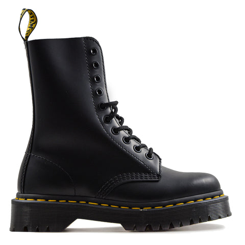 Dr.Martens Bex Anfibio Donna Nero Pelle Smooth Suola Media