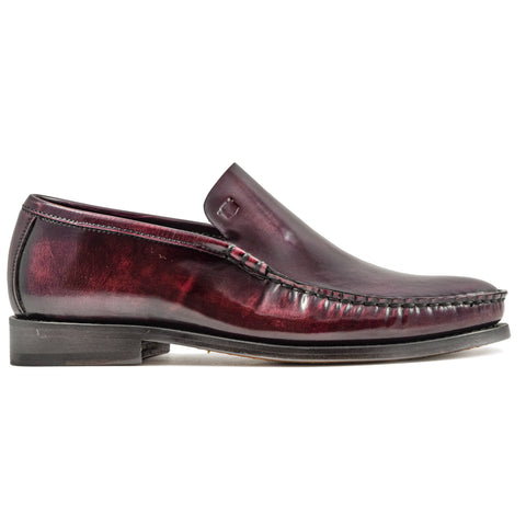 Mocassini Uomo Florsheim Bordeaux Con Vaschetta Made In Italy