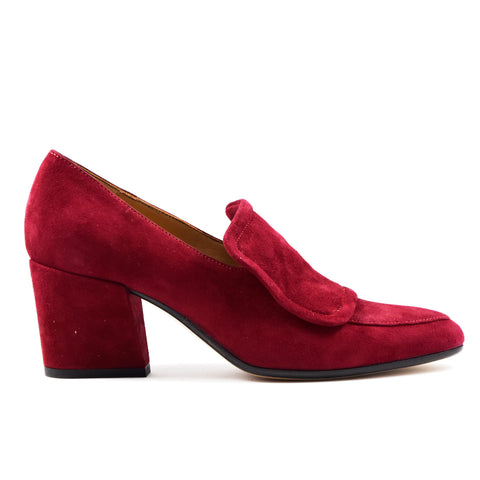 Mocassino Pomme D'Or bordeaux con linguetta Donna