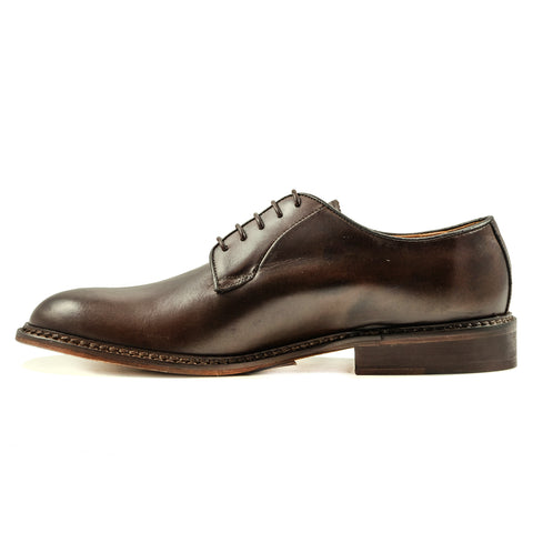 Scarpe Stringate Pelle Marrone Uomo Arcuri Made In Italy