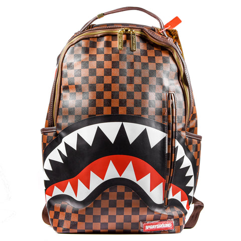 Sprayground Sharks in Paris Zaino Uomo Donna Nero E Marrone