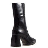 Stivaletti What For Donna Adriana In Vernice Nero Tacco 6