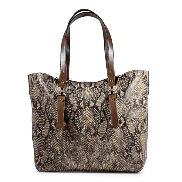 Borsa Hogan Donna modello Shopping Basic stampa snake