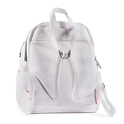 Sprayground Zaino TRINITY 2.0 SHARK SAVAGE Bianco A Due Scomparti