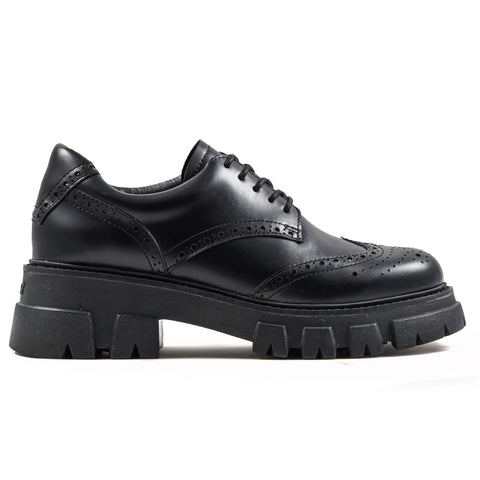 Scarpe Stringate Ash Donna London Nero Con Motivo Brogue
