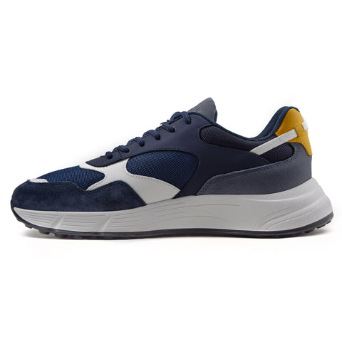 Hogan Hyperlight Sneakers Uomo Blu Con Tomaia Multimateriale