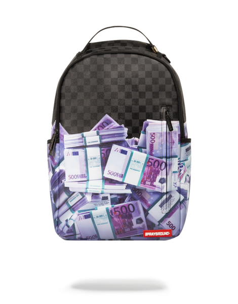 Zaino Sprayground Donna Uomo modello Euro Money Stacks in nylon
