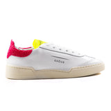 Sneakers Ghoud Rush Bianco Donna Dettaglio Paillettes Rosa
