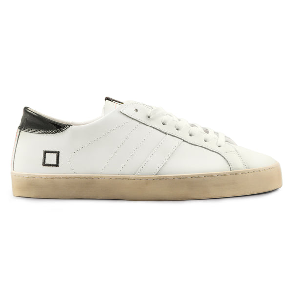 D.A.T.E. Sneakers Hill Low Pop Spot Sneakers Uomo Bianco Nero Lucido