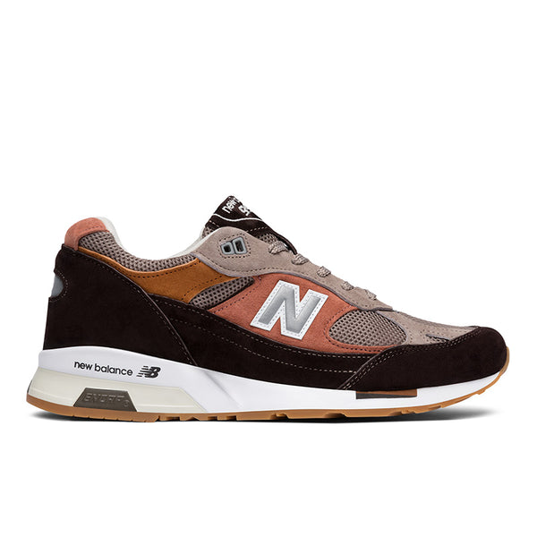 Sneakers New Balance Uomo Made in England camoscio e mesh marrone e beige modello 9915